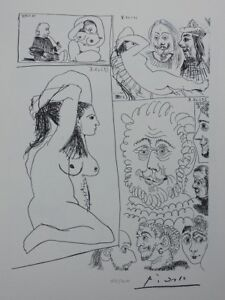 Pablo Picasso (after) : Band Graphic - Lithography Erotic Signed #1200ex