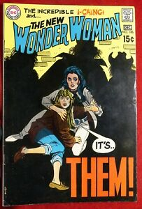 WONDER WOMAN #185 DEC 1969 VFNM THE NEW INCREDIBLE I-CHING IT'S THEM DC COMICS