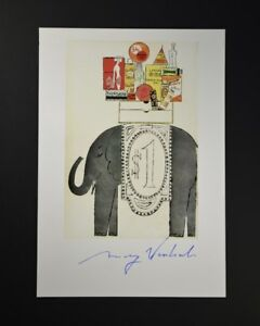 """Andy Warhol """"Illustrations as seen in U.S."""". Hand Signed by Warhol with COA."""