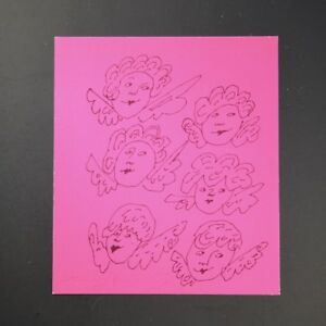 """Andy Warhol """"Angel"""" (Bight Pink Background) Gold Book Hand SIgned with COA."""