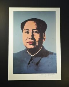 """Andy Warhol """"Mao Zedong"""" of China.  Hand signed by Warhol with COA."""