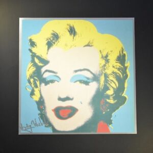 "Andy Warhol ""Marilyn Monroe"".  Blue-Flesh-Yellow.  Hand Signed with COA."