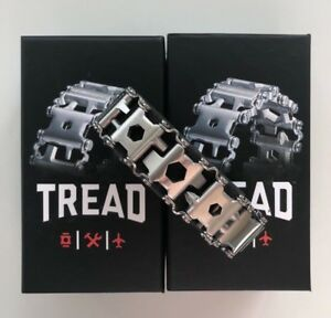 Leatherman TREAD Stainless Steel - Multi Tool Bracelet WITH BOX + Instructions