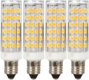 [4 Pack] LED E11 T4 5W 50W Equivalent Mini-Candelabra 120V JD Soft White 3000K