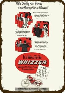 1948 WHIZZER BIKE MOTOR Vintage Look DECORATIVE METAL SIGN WHIZZER BICYCLE MOT