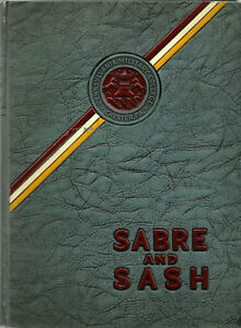 1943 Sabre amp; Sash PMC Pennsylvania Military College Yearbook Plus mg $40.00