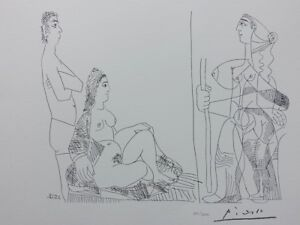 Picasso Pablo:the Couple et La Traveller - Lithography Signed #1200ex