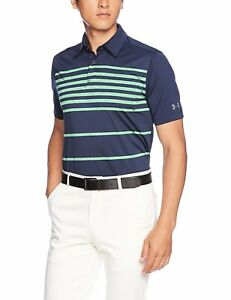 Under Armour Men's CoolSwitch Brassie Stripe Polo - Choose SZColor
