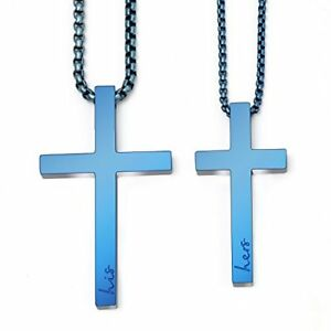 Sunflower Jewellery Matching Cross Necklace Set His Hers Pendant For Girls Boys