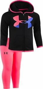Under Armour Childrens Apparel Baby Girls Big Logo Hoody Set- Pick SZColor.