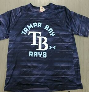 NWOT Under Armour Tampa Bay Rays MLB Team Apparel Dry Fit Blue T-Shirt