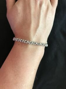 White Gold Sapphire & Diamond Bracelet from Ernest Jones