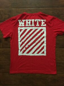Off White Red Tee Shirt Size XL