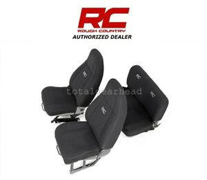 1991-1995 Jeep YJ Wrangler Rough Country Neoprene Seat Covers - BLACK [91009]