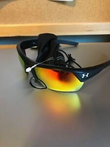Under Armour UA IGNITER 2.0 Men's Satin Black Orange Multi Lens Sunglasses NEW
