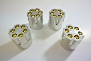 LOT of 4PC New OEM High Quality Herb Spice Silver Metal Bullet R
