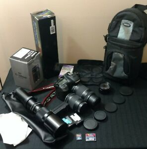Canon EOS 7D MARK 2 Digital SLR Camera -  WITH LENSES~CARDS~Batteries~Case~NICE!