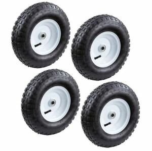 13 in. Pneumatic Tire 4-Pack Hand Trucks Garden Carts Utility Inflatable Wheel