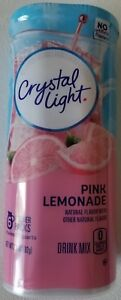 NEW CRYSTAL LIGHT PINK LEMONADE DRINK MIX 12 QUARTS FREE WORLDWIDE SHIPPING $9.99