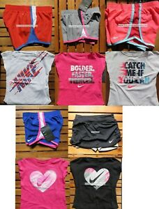 NIKE GIRLS 2T ~ 3T ~ 4T * 10pc ~ DRI-FIT RUNNING SHORTS ~ T-SHIRTS Summer $224