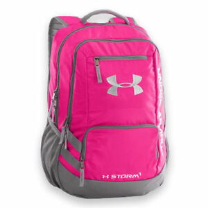 Under Armour Hustle II Backpack in Tropical Pink