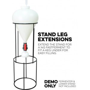 14 gal FastFerment Leg Extensions for Homebrew Brewing Fast Ferment Conical 14