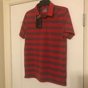 New Under Armour Golf Polo Shirt Size Youth  XL Red Black Gorgeous Retail $40