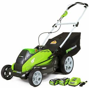40 V Battery Powered Engine 19 in Cordless Lawn Mower Outdoor Yard Grass Cutter