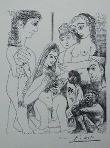 Pablo Picasso (after) : La Dove - Lithography Erotic Signed #1200ex