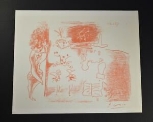 """Pablo Picasso Hand Signed Lithograph """"Decalque du Rouge"""" from 1964 with COA. $399.00"""