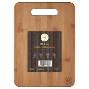 Bamboo Cutting Board Chopping and Serving Board 12.5 x 9 Inch Antibacterial