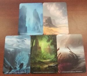Magic The Gathering card dividers 60 count lot 6 mana colors licensed 10 packs6