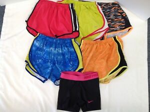 Lot Of 5 Women's Nike Dri-Fit Lined Running Shorts & 1 Nike Pro All Size Small