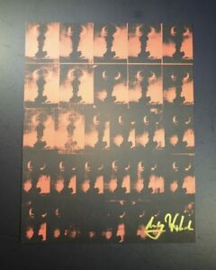"""Andy Warhol """"Atomic Bomb"""" Signed Print from VIP Book 1963. Hand signed w COA"""