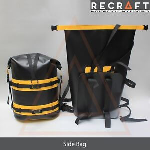 Recraft Dry Roll Bag Waterproof Motorcycle Luggage Sack 2pcs x 28L - Side Bag
