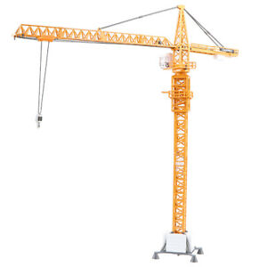 150 Alloy Diecast Construction Site Equipment Tower Slewing Crane Model Toy