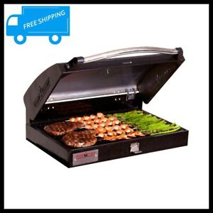 Barbecue Grill Box 3 Burner Stove Outdoor Cooking BBQ Griddle Yard Cast Iron NEW