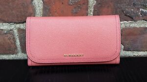 Burberry Continental Trifold Leather Womens Wallet Removable Coin Case Perfect