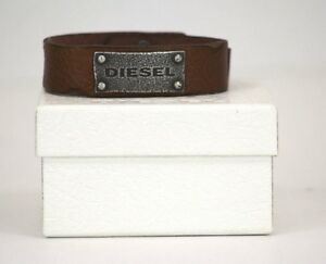 Diesel DX0571040 Brown Genuine Leather & Stainless Steel Men's 9