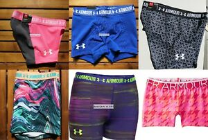 UNDER ARMOUR SHORTY COURT ~ SIZE MEDIUM ~ FITTED SHORTS GYMNASTICS DANCE $150