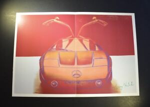 "Andy Warhol ""Cars"" (Large Mercedes-Benz C111 Experimental Vehicle) Signed COA"