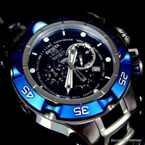 Men's Invicta Subaqua Noma V Swiss Made 50mm Chronograph Blue Black Watch New