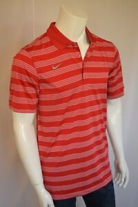 NIKE Better World Game Time Polo Shirt Dry Fit Men's SZ Small in University Red