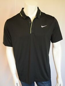 NIKE  STANDARD Fit Dry Fit  SHIRT POLO Men's SZ MEDIUM in 010 BLACK