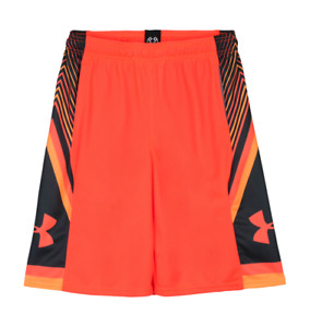 Under Armour Space The Floor printed shorts NWT UPICK boys' M L neon coral