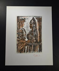 Pablo Picasso Lithograph (bull fighter with female).  Hand Signed with COA. $599.00