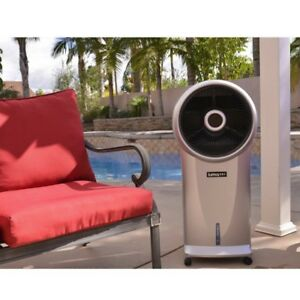 Portable Swamp Cooler Evaporative Air Cooler Oscillating Humidifier Fan 500 CFM