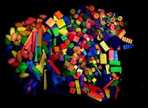 100 BIRD TOY PARTS ASSORTED SM TO MED WOOD PARTS FILLERS: