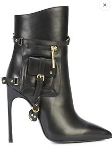 Kendall Miles Pout Black Luxury Leather Designer Boots Size 8 MSRP $1300