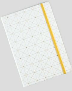 Miliko Geometry Golden Blocking A5 Hardcover Banded Notebook/Journal